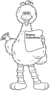 Animal Coloring Pages Kids Sesame Street Printable Free Colouring Abc