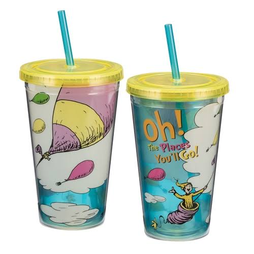 Dr. Seuss Acrylic Travel Cup - Oh the Places, 18oz