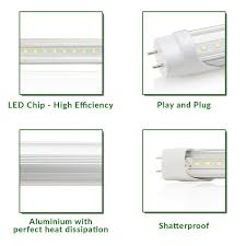 Requires Non Shunted Lamp Holders Tombstones by Sunco Lighting 10 Pack T8 Led Tube Light 4ft 48