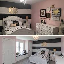 Girls Room With Black And Gold Accents All Very Affordable Most Of The Decor