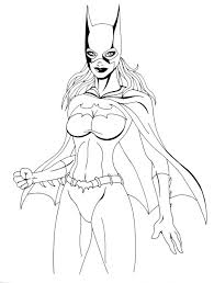 Download Coloring Pages Batgirl Printable Me For Kids