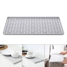 Kitchen Organizer Double Layer Dish Ve able Water Tray Drainer