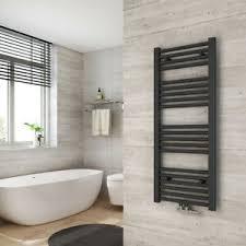 details zu badheizkörper 100x40cm weiß anthrazit badezimmer mittelanschluss handtuchwärmer