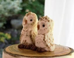 Rustic Birch Tree Wedding Cake With Fondant Owl Topper