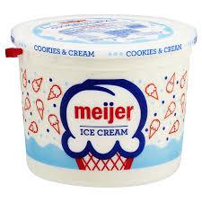 Meijer Christmas Tree Tote by Meijer Ice Cream Cookies U0026 Cream 1 25 Gallon Meijer Com