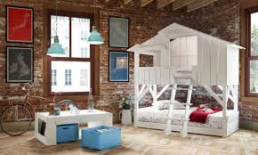 Playhouse Loft Bed With Slide — Loft Bed Design Fun Playhouse