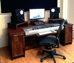 Music Workstation Desk Home Studio Great Piano On Inside Inspirations 19