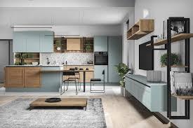 arle naturell freda moderne loft küche mit insel und