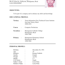 Resume Format For Job Application Pdf Elegant Sample Cv Biodata