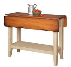 small double drop leaf dining table made from recycled wood with