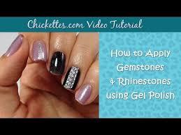 Gelish 18g Led Lamp Cosmoprof by Video How To Apply Gemstones U0026 Rhinestones With Gel Polish