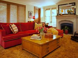 Red Sofa Living Room Ideas by 14 Neutral Transitional Living Room With Red Sofa A Red Sofa Adds