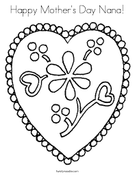 Happy Mothers Day Nana Coloring Page