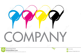 Royalty Free Stock Photo Download CMYK Printing Color Cans Logo