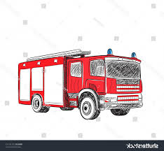 100 Fire Truck Drawing Cartoon Stylized Vector ARENAWP