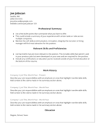 Hybrid Resume Template Functional Examples McDonalds
