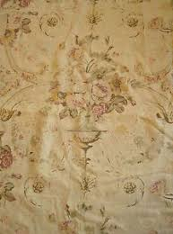 LINEN FABRIC Garden Flowers Shabby Chic French Look Upholstery Curtains Drapes