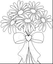 Daisy Rose Petal Coloring Page Flower Pages Free Duck Printable