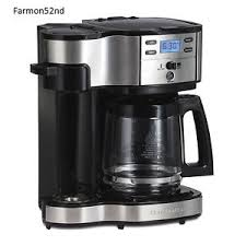 Single Serve Coffee Pot Maker Brewer Or Full Hamilton Beach 2 Way NEW
