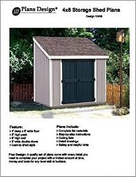 slant lean to roof style storage shed plans 4 x 8 plans
