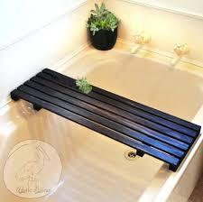 diy bathtub caddy with reading rack cozy wood bathtub caddy with reading rack 6 image for wooden