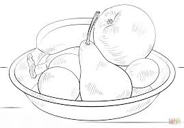 Click The Bowl Of Fruits Coloring Pages