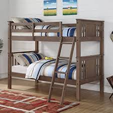 amazon com donco princeton twin over twin bunk bed kitchen