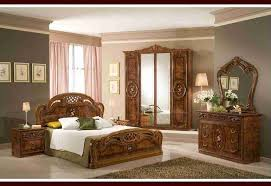 Rustic Italian Furniture For MAster Bedroom With Grey Wall Paint Color