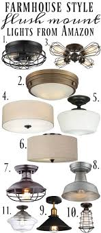 The Best Farmhouse Flush Mount Lights All From Amazon A Great Pin