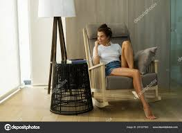 Beautiful Woman Sitting Rocking Chair — Stock Photo ... Rocking Chair For Nturing And The Nursery Gary Weeks Coral Coast Norwood Inoutdoor Horizontal Slat Back Product Review Video Fort Lauderdale Airport Has Rocking Chairs To Sit Watch Young Man Sitting On Chair Using Laptop Stock Photo Tips Choosing A Glider Or Lumat Bago Chairs With Inlay Antesala Round Elderly In By Window Reading D2400_140 Art 115 Journals Sad Senior Woman Glasses Vintage Childs Sugar Barrel Album Imgur Gaia Serena Oat Amazoncom Stool Comfortable Cushion