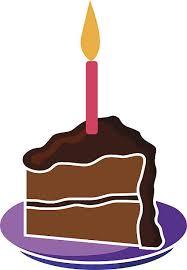 piece of birthday cake vector art illustration