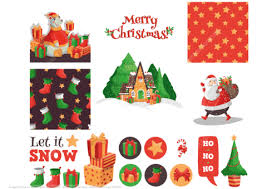 Click To See Printable Version Of Christmas Cards Notes And Stickers With Santa Gifts