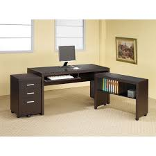 Tempered Glass Computer Desk by Coaster Skylar Computer Desk With Optional Extension And File