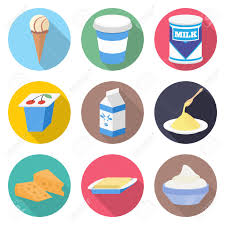 100 Ice Cream Truck Products 44284631 Milk Vector Icon Set Yogurt Cheese And