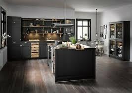 details zu einbauküche schüller vienna in l190 lavaschwarz satin 26 farben erhältlich
