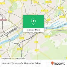 how to get to brücken textorstraße in frankfurt am by