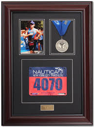Triumph Marathon Medal Display Frame Library Mahogany