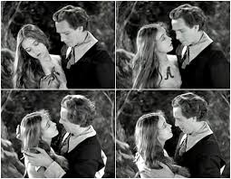 Hester and Dimmesdale in stills From the 1926 silent adaptation of