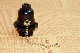 ul bakelite l holder pull chain e26e27 vintage edison