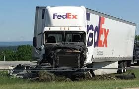 100 Fedex Truck Wreck WATCH Harrowing Ride As Rig Sideswipes School Bus On I78