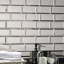 abolos echo 3 x 6 mirror glass peel stick subway tile in