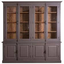 casa padrino landhausstil wohnzimmer vitrinenschrank lilagrau braun 223 x 50 x h 228 cm wohnzimmerschrank mit 8 türen barockgroßhandel de