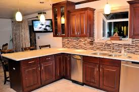 Mosaic Tile Chantilly Virginia by Kitchen Cabinets With Black Appliances Mosaic Stone Tile