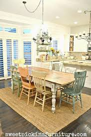 Chalk Paint Dining Room Table Rustic Painted Tables And Chairs