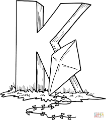 Click The Letter K Is For Kite Coloring Pages
