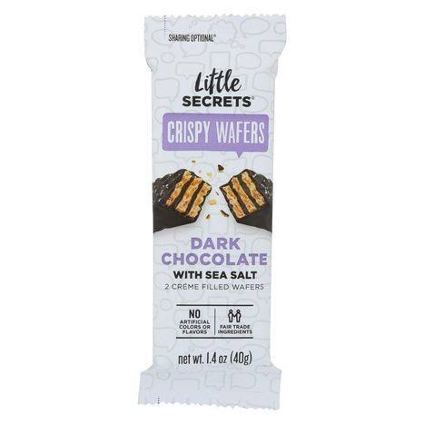 Little Secrets Crispy Wafers Dark Chocolate with Sea Salt