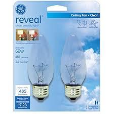 ge lighting reveal 48713 60 watt ceiling fan blunt tip light bulb