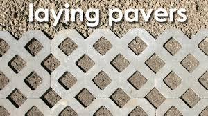 16x16 Patio Pavers Menards by Laying Pavers Youtube