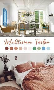 schlafzimmer mediterran einrichten wandfarbe möbel