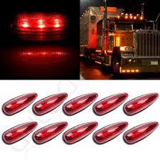 100 Running Lights For Trucks 10pcs Truck Trailer Red Top Light Side Marker Clearance